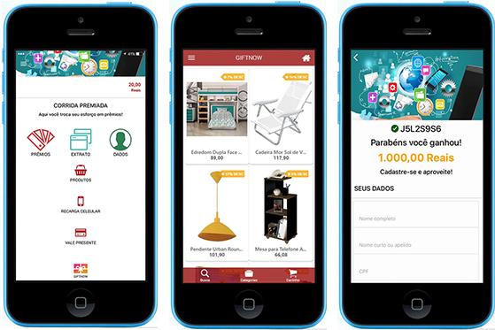 Aplicativo de Premiação GiftNow - Campanhas de incentivo e cartes de Crédito